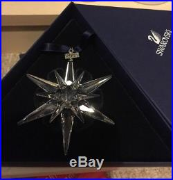 Swarovski Crystal Annual Christmas Ornament 2005 New And Mint In Box