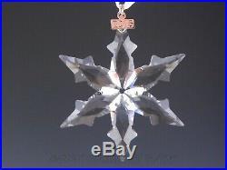 Swarovski Crystal Annual Christmas Ornament 2015 STAR SNOWFLAKE Mint Box COA