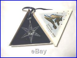 Swarovski Crystal Annual Christmas Ornament Snowflake 1993 Very Rare MIB No COA