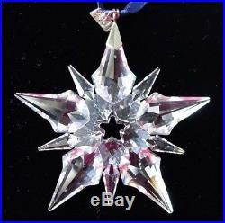 Swarovski Crystal Annual Christmas Snowflake Star 2001 Ornament NIB COA