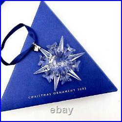 Swarovski Crystal Annual Holiday Christmas Ornament 2002 Original Box