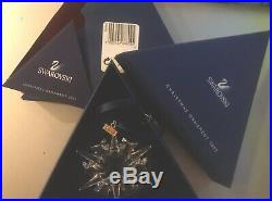 Swarovski Crystal Annual Star Snowflake Christmas Ornament 2002 #288802 NIB