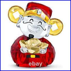 Swarovski Crystal Asian Symbols, Cute God of Wealth Figurine Decoration 5523324