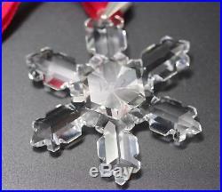 Swarovski Crystal Austria 1992 Snowflake Christmas Ornament Mint Rare