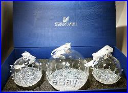 Swarovski Crystal Balls 2017 Annual Christmas Ornament BALL Set of 3 5268012 MIB