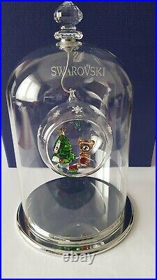 Swarovski Crystal, Bell Jar Display Large, Include Ball Ornament Christmas Scene