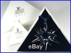 Swarovski Crystal Christmas 1997 Ornament 211987 Snowflake