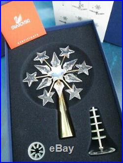 Swarovski Crystal Christmas 2003 Tree Topper Gold Ornament 632784 In Box COA