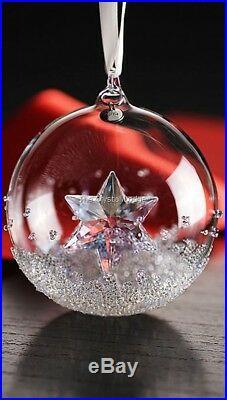 Swarovski Crystal Christmas 2014 Ball Ornament 5059023 Mint Boxed Retired Rare
