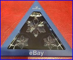 Swarovski Crystal Christmas 2014 Set Of 3 Ornaments 5059030 Mint Boxed Retired