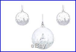 Swarovski Crystal Christmas Ball Ornament Annual Edition Holiday Decoration SET
