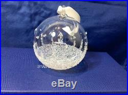 Swarovski Crystal Christmas Ball Ornament Set 2017 5268012 Palle di Natale NEW