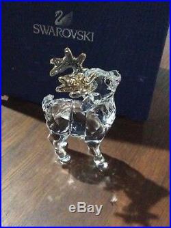 Swarovski Crystal Christmas Figurine SANTA'S REINDEER- 5223261 NIB