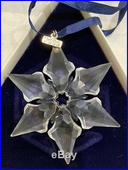 Swarovski Crystal Christmas Ornament 2000 Annual Edition Snowflake In Box