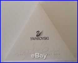 Swarovski Crystal Christmas Ornament 2000 + Box & Triangle Paper- MINT