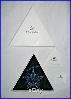 Swarovski Crystal Christmas Ornament 2001 Star/Snowflake 267941