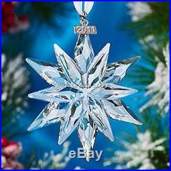Swarovski Crystal Christmas Ornament 2011 Large Clear 1092037 Mint Boxed Retired
