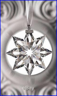 Swarovski Crystal Christmas Ornament 2013 Clear Large 5004489 Mint Boxed