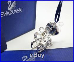 Swarovski Crystal Christmas Ornament Kris Bear On Sleigh 718990 MIB WithCOA