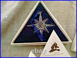 Swarovski Crystal Christmas Ornament Snowflake 1995 1996 1997 Box LIMITED ED Set