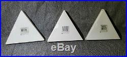 Swarovski Crystal Christmas Ornament Snowflake 1998 1999 2000 Box LIMITED ED Set