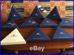 Swarovski Crystal Christmas Ornaments 2001 2010 Lot of 10