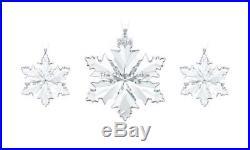 Swarovski Crystal Christmas Ornaments 2014 Set 5059030 Mint Boxed Retired