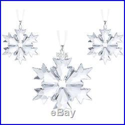 Swarovski Crystal Christmas Ornaments Set 2018 5357983. New In Box