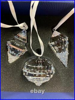 Swarovski Crystal Christmas Ornaments Set of 3 5223618
