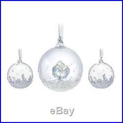 Swarovski Crystal Christmas Ornaments Set of 3 CHRISTMAS BALLS 2016 #5223282 New