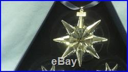 Swarovski Crystal Christmas Set #3 2009 Annual Snowflake Ornaments NIB with Cert