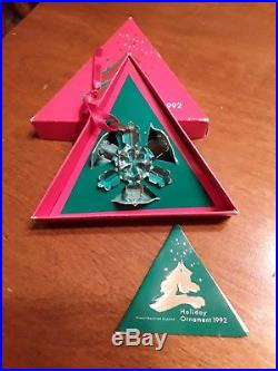 Swarovski Crystal Christmas Snowflake Ornament 1992