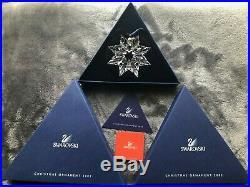 Swarovski Crystal Christmas Snowflake Ornaments 2002 & 2003 MINT