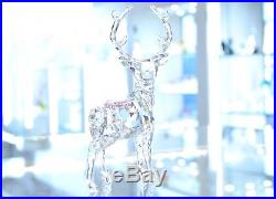 Swarovski Crystal Christmas Stag Holly Leaves Berries 5403311 Brand New In Box