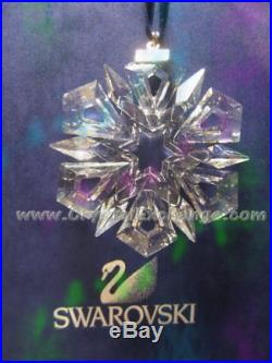 Swarovski Crystal Christmas Star Snowflake 1999 Ornament SCO1999. Mint. COA