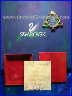 Swarovski Crystal Christmas Tree Dove 1989 Ornament Holiday Etching SCO1989 MIB
