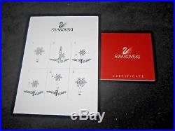 Swarovski Crystal Christmas Tree Topper / Star with Boxes & Papers Chrome