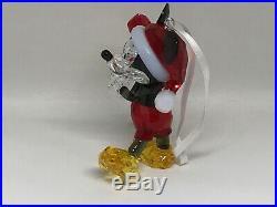 Swarovski Crystal Disney MICKEY MOUSE Christmas Ornament 5412847 NIB