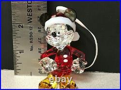 Swarovski Crystal Disney Mickey Mouse Christmas Ornament Figurine 5004690 (A)