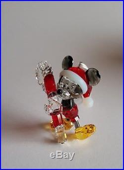 Swarovski Crystal Disney Mickey Mouse Christmas Ornament, Rare Art No 5135938