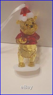 Swarovski Crystal Disney WINNIE THE POOH Christmas Ornament #5030561 NIB