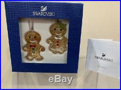 Swarovski Crystal Figurine Christmas Ornament Gingerbread Couple 5281766 MIB