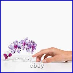 Swarovski Crystal Flowers Orchid Figurine Decoration, Purple, 5520373