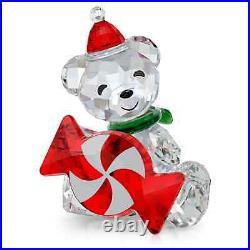 Swarovski Crystal Kris Bear Christmas A. D. 2021 Figurine Decoration, Red 5597045