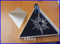 Swarovski Crystal Large Annual 1997 Christmas Ornament Snowflake