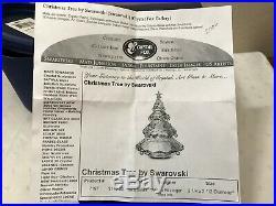 Swarovski Crystal Large Christmas Tree Item #7197 With Box