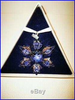 Swarovski Crystal Large Snowflake, Star, Christmas Tree Ornament, Boxed. C. 2010