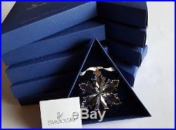 Swarovski Crystal, Lot of 10 x 2014 Snowflake Christmas Ornament. Art No 5059026