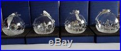 Swarovski Crystal Lot of 4 x Christmas Ball Ornament, 2014 2015 2016 2017