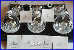 Swarovski Crystal, Lot of 6 x A. E, 2015 Christmas Ball Ornament, Art No 5135821